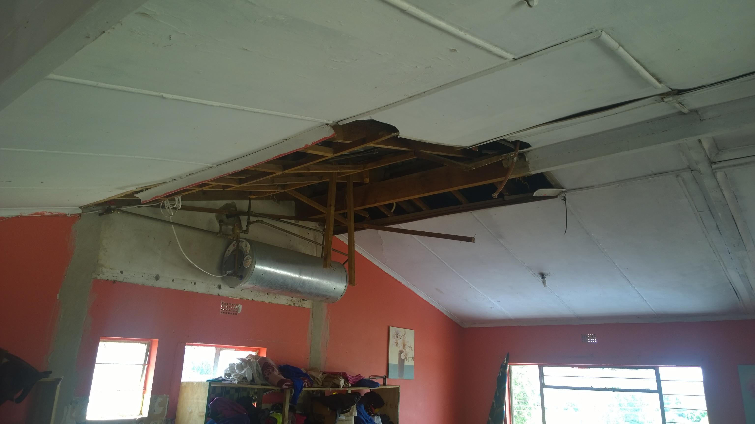 Roof under repairs